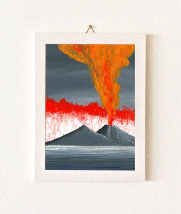 Fuoco - grigio e arancio - 032-0