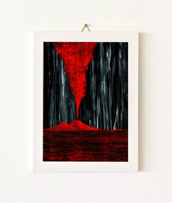 Fuoco imprigionato - rosso - 036-0