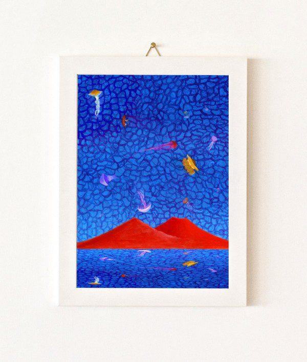 Meduse - blu e rosso - 134-0