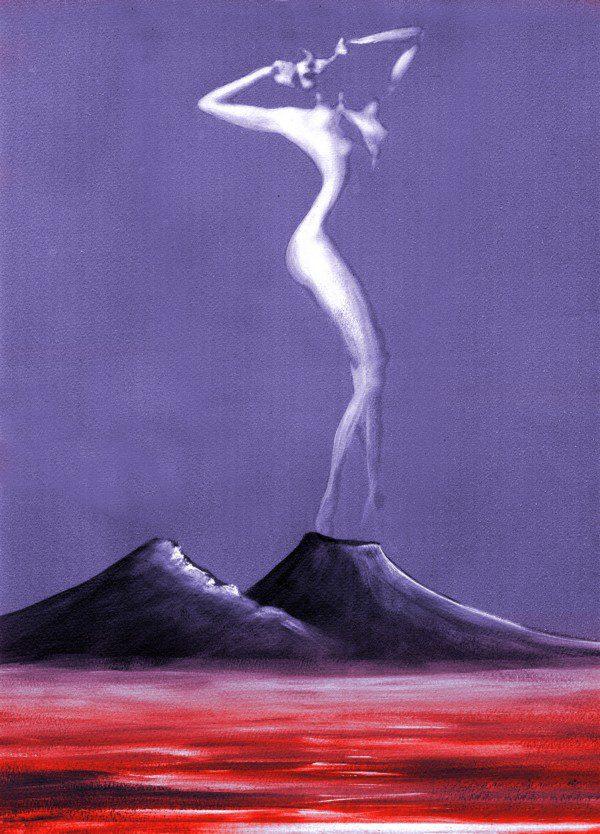 Donna - viola e rosso - 378-6324