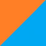 arancio e azzurro