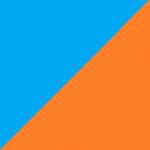 azzurro e arancio