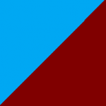 azzurro e bordeaux