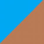 azzurro e marrone