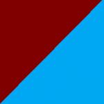 bordeaux e azzurro