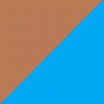 marrone e azzurro
