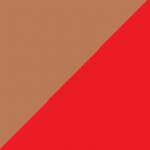 marrone e rosso