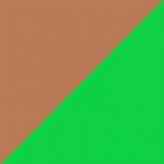 marrone e verde
