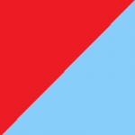 rosso e turchese